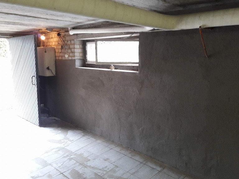 Garage humide : traitement contre l'humidité par cuvelage