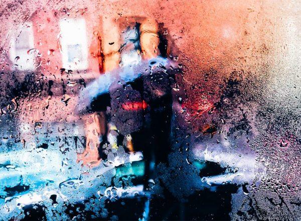 Murs extérieurs humides par la pluie